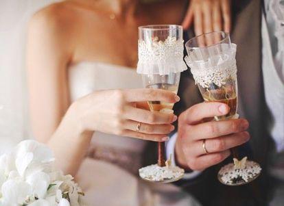Оформление свадебных бокалов, о свадьбе